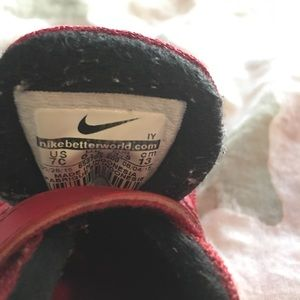 Nike Shoes - TODDLER RED NIKE SIZE 6T